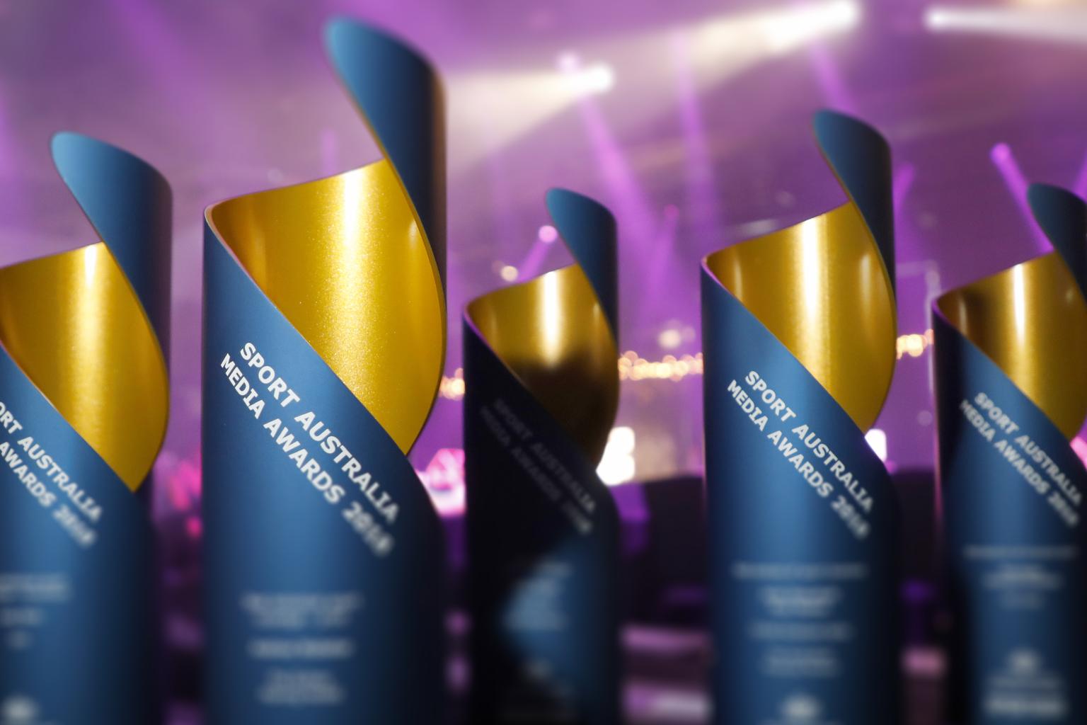 Sport Australia Media Awards trophies