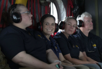 On board a CH-47F Chinook en route to the Townsville Field Training Area.